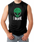 I Believe - Green Alien Head  Men's SLEEVELESS T-shirt