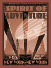 5492.Spirt of adventure.muntz industries.new york.POSTER.Decoration.Graphic Art