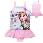 Hot Frozen Kids bikini Swimwear one-piece swimming Girls Swimsuit Soft gauze Net