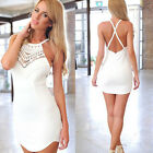 Sexy Women Slim Summer Lace Gallus Cross Sleeveless Backless Dress New Tide