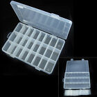 Plastic 15/10 Slots Adjustable Jewelry Storage Box Case Craft Organizer Beads tp