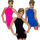 Fashion Women Sexy Halter Neck Evening Mini Dress Party Clubwear Vogue