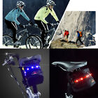 Cycling Bike Bicycle Saddle Seat Bag Pouch 7 LED Tail Light Lamp Outdoor Tide