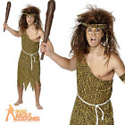 Adult Caveman Costume Mens Jungle Fancy Dress Prehistoric Outfit New