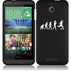 For HTC Desire 510 Rubber Hard Snap On 2 Piece Case Cover Evolution Soccer