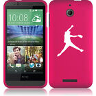 For HTC Desire 510 Rubber Hard 2 Piece Case Cover Female Softball Pitcher