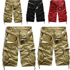 FREE P&P Mens Casual Outdoor Army Cargo Combat Camo GYM Shorts Sports Pants