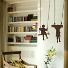 Children on Swings Playing Wall Stickers! New Vinyl Decal / Large Art Decor ne58