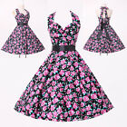 UK SALE!! VINTAGE STYLE 40s 50s Rockabilly Swing Pin Up Housewife Tea Dresses ++