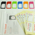 1-3x Micro SIM Card Adapter Converter Tray GS for Apple iPhone cell Mobile Phone