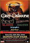 OZZFEST 2002 Ozzy Osbourne PHOTO Print POSTER Tool Band System Of A Down 002