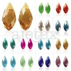 10pc Loose DIY Crystal Teardrop Top Drilled Beads fit Jewelry Making 6x12/8x13mm