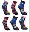 *REF125 ( REDUCED SEE NOTES)Disney Mickey Mouse Boy's 4 pack Non Skid Socks