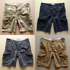 2015 Hollister Abercrombie Men's Classic Twill Cargo Shorts At The Knee ALL SIZE