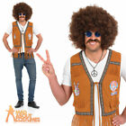 60s Hippie Fringed Waistcoat Adult Mens Hippy Fancy Dress Outfit