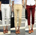 New Arrival Mens Casual Capri Pants Comfort Business Work Cropped Trousers 28-33