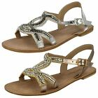 Leather Collection Ladies Flat Sandals