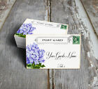 VINTAGE  STYLE HYDRANGEA POSTCARD WEDDING PLACE CARDS, TAGS or ESCORT CARDS #603