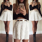 New Women's Black & White Ladies Tops+Skirt 2 Piece Set Party Evening Club Dress
