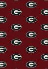 Georgia Bulldogs NCAA Team Repeat Area Rug