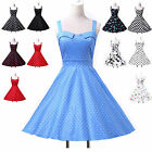 FAST UK!!Vintage Style 50s Rockabilly Swing Pinup Evening Party Prom Tea Dresses