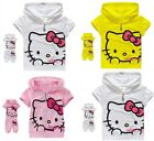Hello Kitty Shirt & Pants Set Capri Outfit Costume Girls Kids Baby Princess