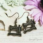ER2507 Graceful Garden Vintage Style Singer Sewing Machine Dangle Charm Earrings