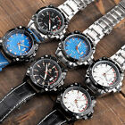 1pc Men Leather/Stainless Steel Band Date Quartz Casual Analog Wrist Watch #0134
