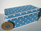 Kyпить POTTERY BARN TEEN ~ BLUE DOTTIE CANVAS STORAGE BIN ~ 2 SIZES AVAILABLE на еВаy.соm