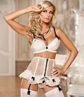 AXAMI V-4281 PRECIOUS  ELEGANT LUXURY LINGERIE PUSH UP BRA GARTER THONG SET