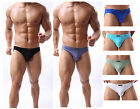 New Men's Fashion Boxer Briefs Low Waist Underwear Bikini Underpants 6 colors
