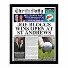 Personalised Golf Newspaper with Photo Gift Present Ideas for Golfers Birthday