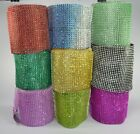 Multi-color maglia Wrap scintilla strass cercando Ribbon Wedding Decoration 4,65