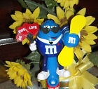 "2015 Blue Candy M&M Fan Topper Collectible M&M""S NEW Valentine's Day"