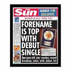 Personalised The Sun Music No1 Single Photo Newspaper Present Birthday Gift Idea