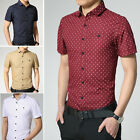 TAD101 New Luxury Men's Dress Shirts Casual Stylish Slim Fit Polka Dot 4 ColorS