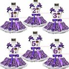 Doctor McStuffin 1ST 2ND 3RD 4TH Birthday Girl Top Purple White Dots Skirt 1-8Y
