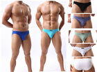 Hot Men's Cotton Made Boxer Briefs Low Waist Breathable Simple Design Underwear
