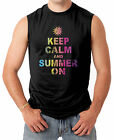 Keep Calm And Summer On - Beach Season Men's SLEEVELESS T-shirt