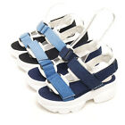 2spd08128 6cm platform heel denim straped sandal Made in korea