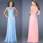 New 2015 Women Chiffon Party Dress Sleeveless Maxi Lace Dress Long Wedding Dress