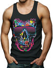 Skull With Neon Shades - Cool Summer Men's Tank Top T-shirt