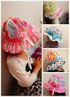 New Toddler kids girls floppy Summer Sun Beach Hats cap w/ chin strap 2T-5T