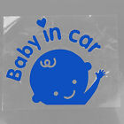 """Baby In Car"" Waving Baby on Board Safety Sign Car Decal   Sticker 7 colors"