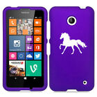 For Nokia Lumia 630 635 Rubber Hard Case Cover Horse