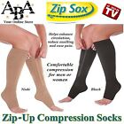 Zip up compression socks, zipped, Varicose Veins Flight Travel