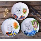 1 X Ceramic Plate Dish Serving Tray Cat Bunny Wolf Round Food Novelty 8'' Decor
