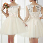 Womens Lace Bodycon Evening Party Short Mini Dress Wedding Bridesmaid FO UK 10