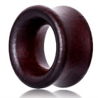 DARK RED WOODEN EAR TUNNELS PIERCING Stretchers Jewellery Plugs TIMBER TU32