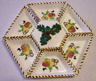 Vintage Chip, Dip or Relish Tray Set Hand Painted Made in Japan Mid Century